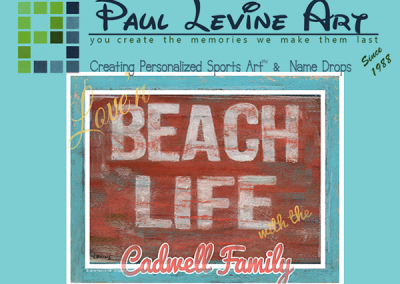 Paul Levine Personalized Sports Art